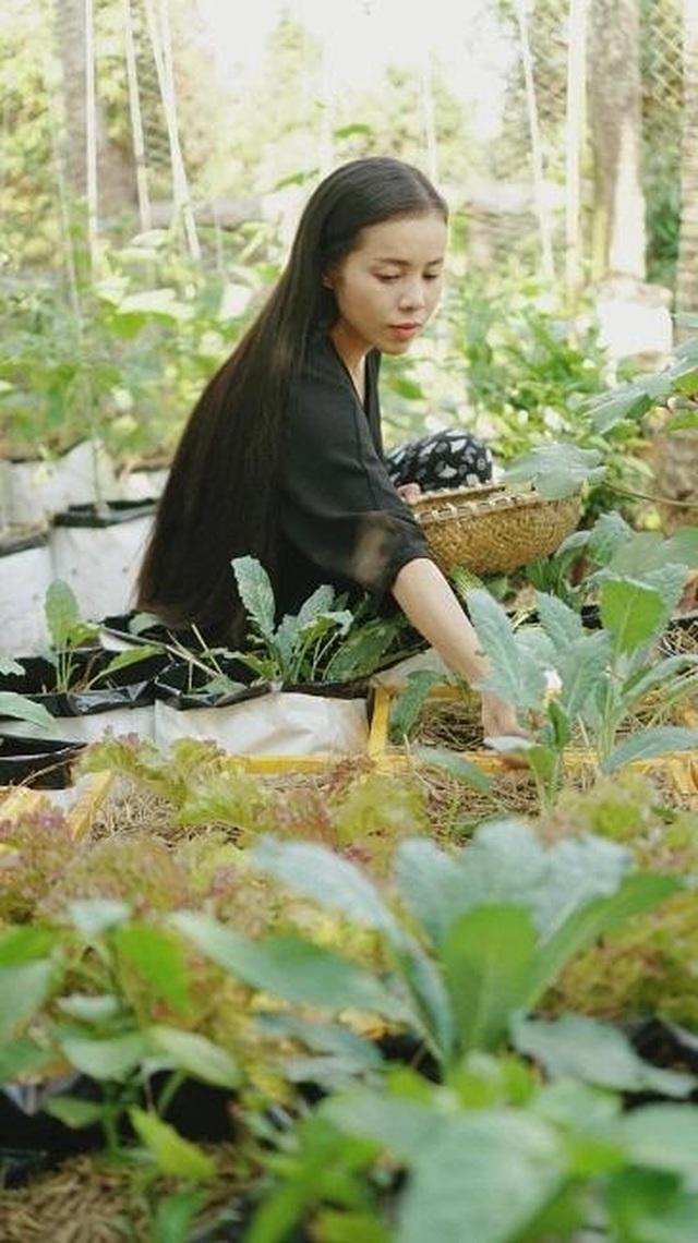 Gia đình ở Đắk Lắk rời phố thị, về quê làm vườn bội thu rau trái - 4