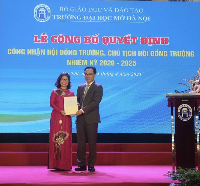 Trường ĐH Mở Hà Nội có nữ hiệu trưởng mới - 2