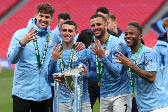 Đánh bại Tottenham, Man City lần thứ 8 vô địch Carabao Cup - 1