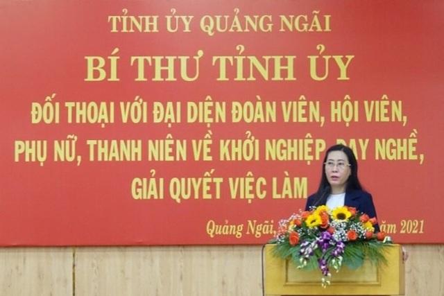 Bí thư Tỉnh ủy Quảng Ngãi đối thoại về chính sách việc làm, khởi nghiệp - 1