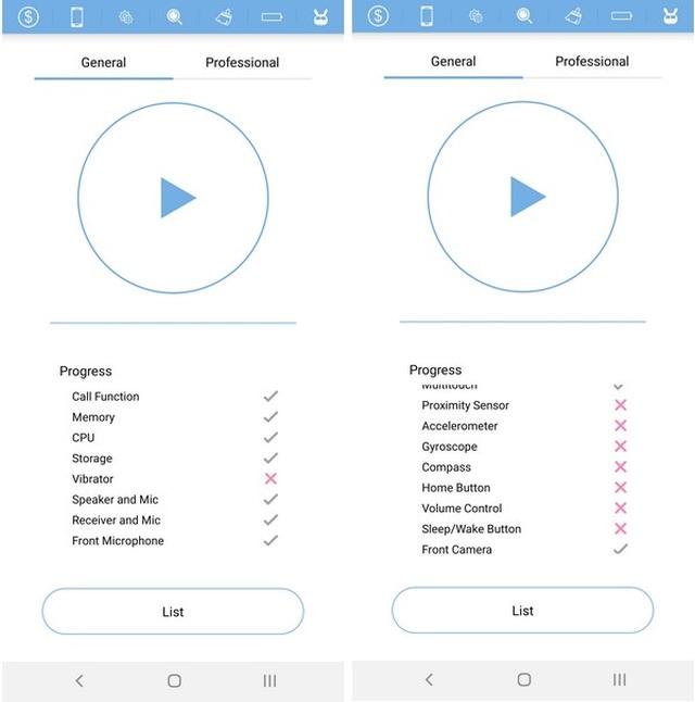 Thủ thuật kiểm tra tình trạng của các linh kiện và cảm biến trên smartphone - 2