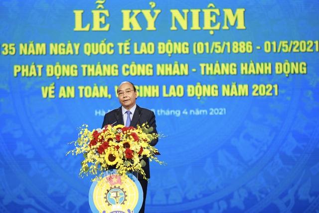 Chủ tịch nước Nguyễn Xuân Phúc dự Lễ kỷ niệm 135 năm Ngày Quốc tế Lao động - 1