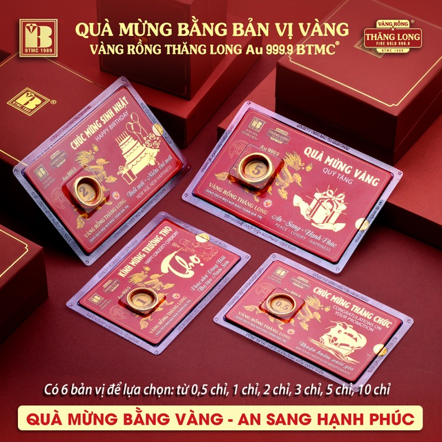 Bảo Tín Minh Châu ra mắt sản phẩm mới - Quà mừng bằng bản vị VRTL 999.9 - 1