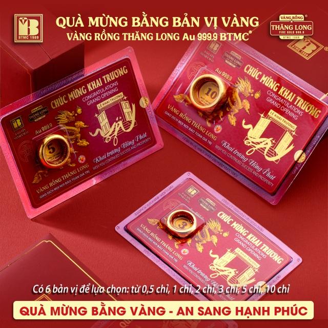 Bảo Tín Minh Châu ra mắt sản phẩm mới - Quà mừng bằng bản vị VRTL 999.9 - 3