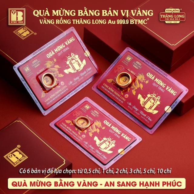 Bảo Tín Minh Châu ra mắt sản phẩm mới - Quà mừng bằng bản vị VRTL 999.9 - 5