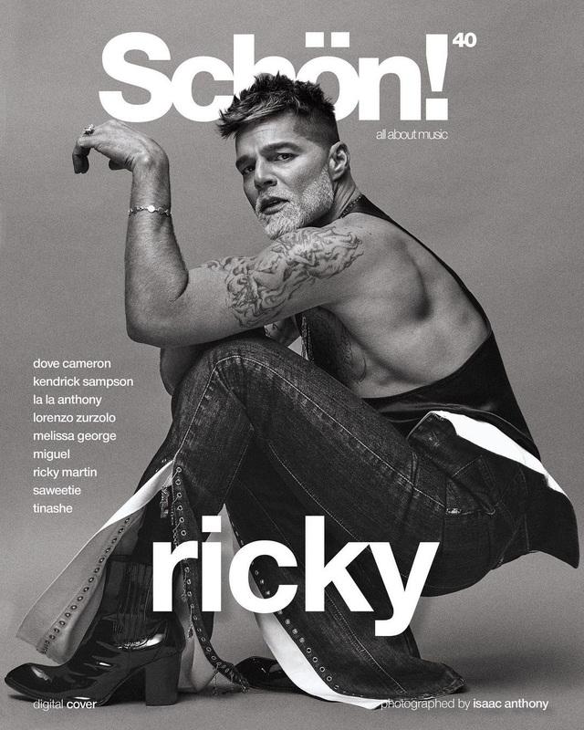 Ngỡ ngàng với diện mạo của ca sĩ đồng tính Ricky Martin trong loạt ảnh mới - 1