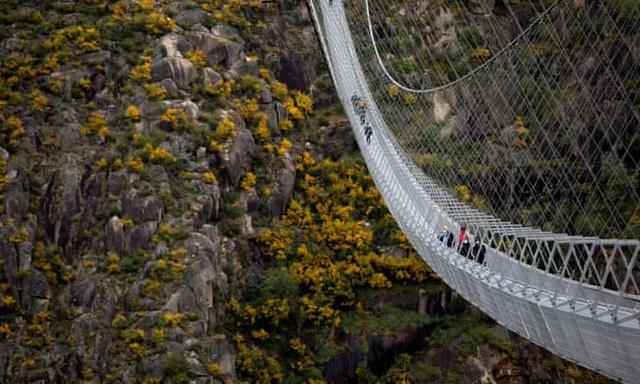 Mở cửa cầu treo đi bộ dài nhất thế giới - 1