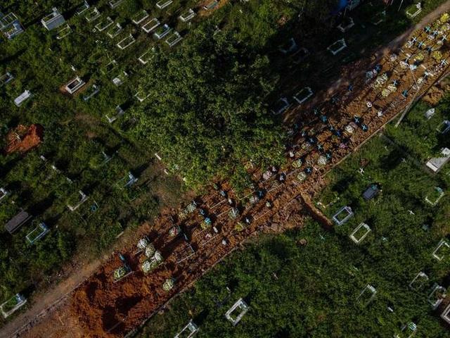 Hết đất an táng, nghĩa trang Brazil đào đường chôn nạn nhân Covid-19 - 1