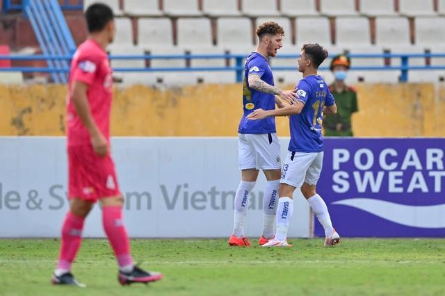 Quang Hải tịt ngòi, CLB Hà Nội vẫn thắng dễ Sài Gòn FC - 3