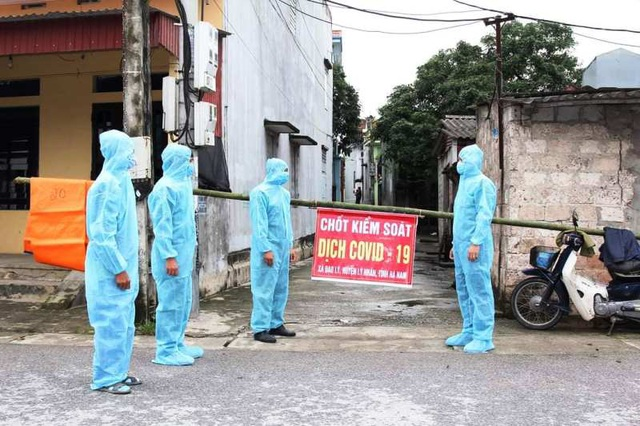 Hà Nam phong tỏa thêm 2 thôn có ca dương tính với SARS-CoV-2 - 1