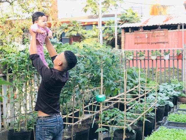 Vườn 60m2 đủ loại rau trái, vợ chồng trẻ ở Quảng Nam không phải đi chợ - 5
