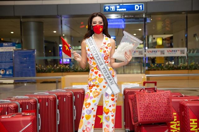 Khánh Vân lên đường sang Mỹ thi Hoa hậu Hoàn vũ - 3