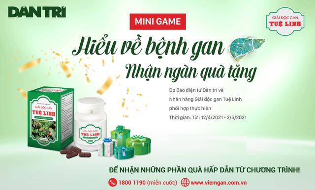 Hơn 5.100 độc giả Dân trí tham gia minigame: Hiểu về bệnh gan - nhận ngàn quà tặng - 1