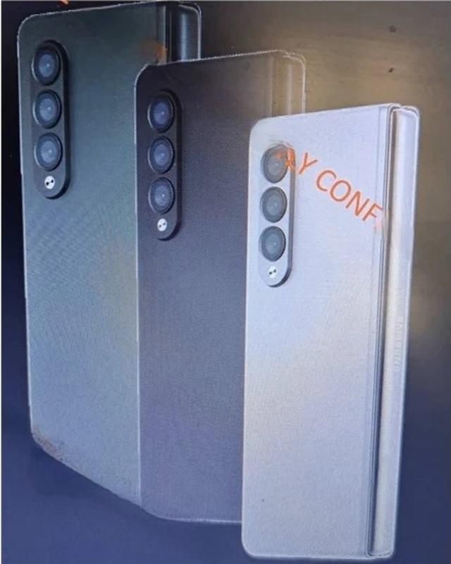 Lộ ảnh bộ đôi smartphone màn hình gập Galaxy Z Fold3 và Flip2 của Samsung - 1