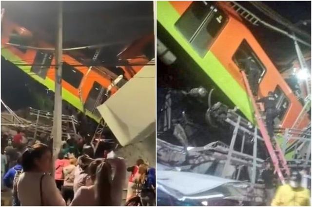 Mexico: Sập đường sắt trên cao, ít nhất 13 người chết - 1