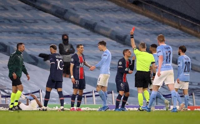 Man City 2-0 PSG: Cú đúp của Mahrez và Di Maria bị đuổi - 4