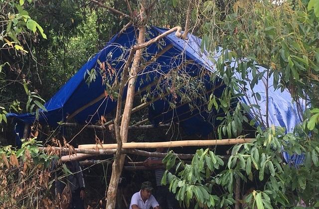 Điều tra nhóm đối tượng hành hung kiểm lâm, đốt chốt bảo vệ rừng  - 1