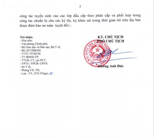 TP.HCM: Thông báo khẩn, tạm ngưng các hoạt động dạy - học toàn thành phố - 4