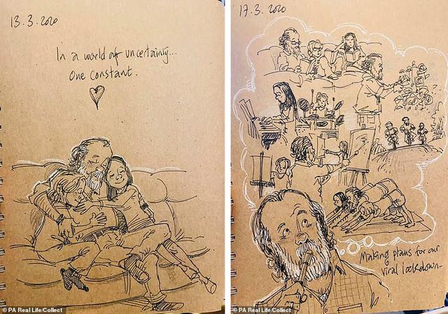 Xúc động tập Nhật ký vẽ nguệch ngoạc về người vợ đã mất của họa sĩ già - 2
