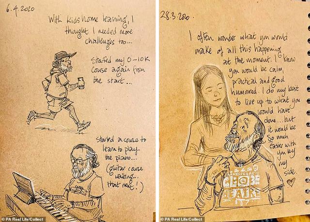 Xúc động tập Nhật ký vẽ nguệch ngoạc về người vợ đã mất của họa sĩ già - 3