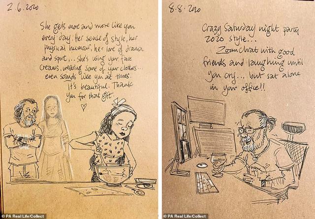 Xúc động tập Nhật ký vẽ nguệch ngoạc về người vợ đã mất của họa sĩ già - 4