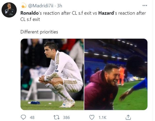 Eden Hazard ăn mừng khi Chelsea vào chung kết Champions League - 3