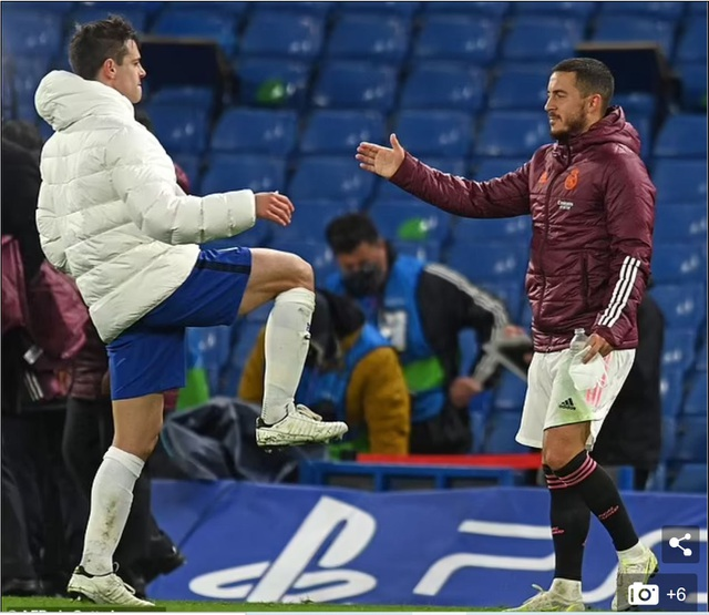 Eden Hazard ăn mừng khi Chelsea vào chung kết Champions League - 1