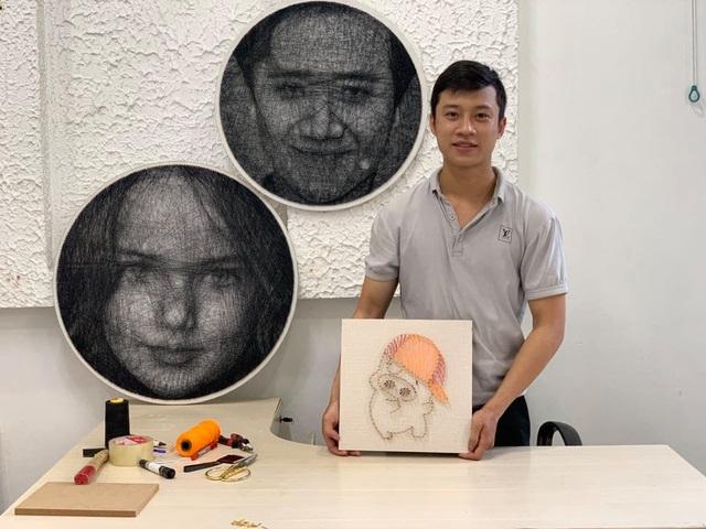 9X Sài Gòn có biệt tài vẽ chân dung bằng đinh và chỉ - 2