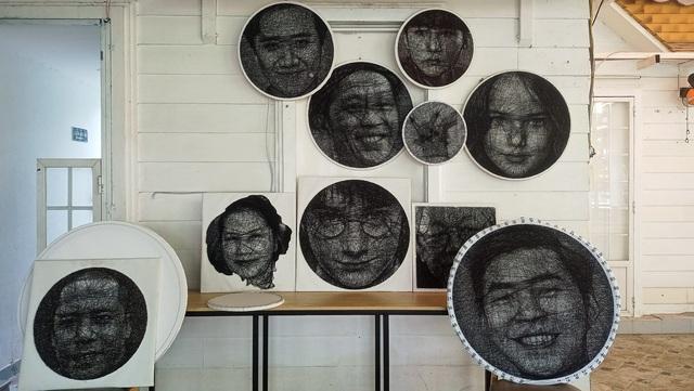 9X Sài Gòn có biệt tài vẽ chân dung bằng đinh và chỉ - 5