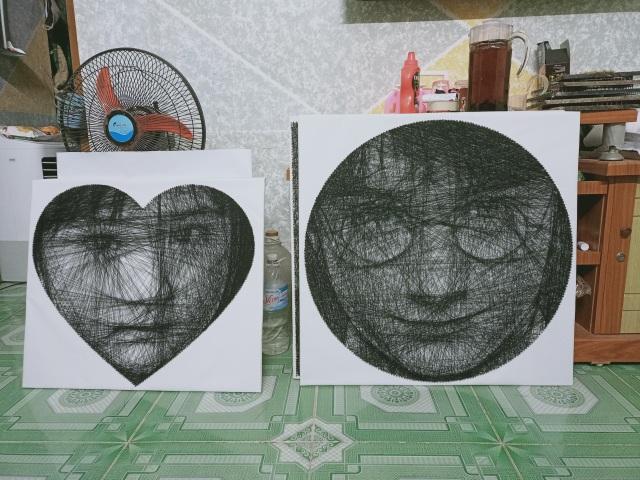 9X Sài Gòn có biệt tài vẽ chân dung bằng đinh và chỉ - 4