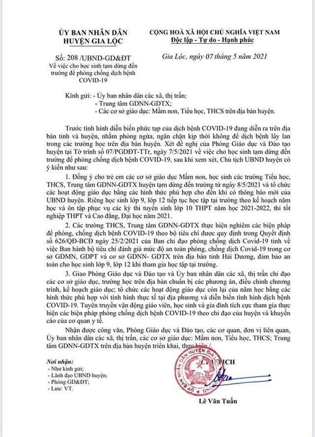 Hải Dương: 89 học sinh trường tiểu học Bình Minh phải cách ly tại nhà - 2