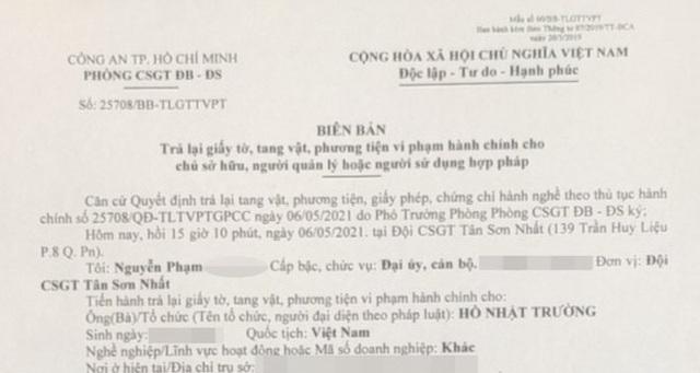 CSGT xin lỗi dân, trả lại giấy tờ vì không chứng minh được vi phạm - 1
