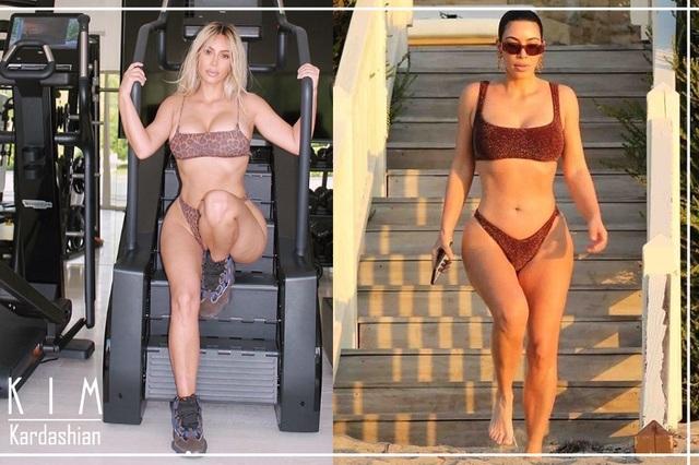 Kim Kardashian quá nóng bỏng trong phòng tập gym - 5