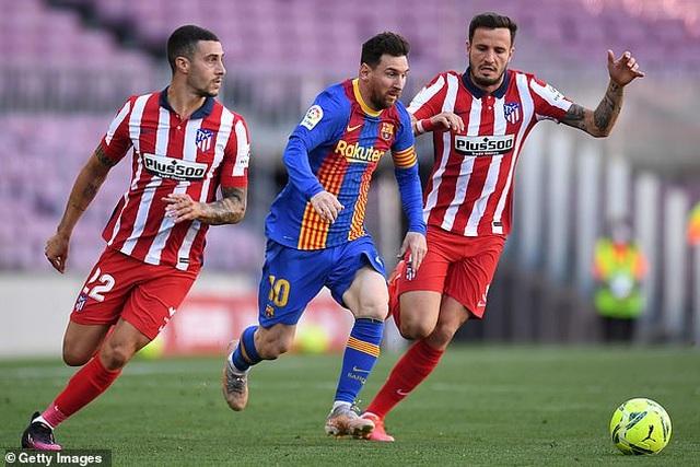Nỗ lực của Messi không thể giúp Barcelona đánh bại Atletico - 6