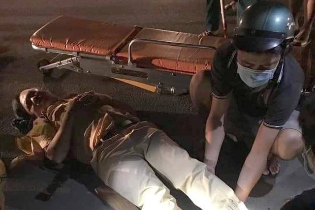 CSGT và dân quân bị tông gãy chân trong lúc ngăn quái xế - 1