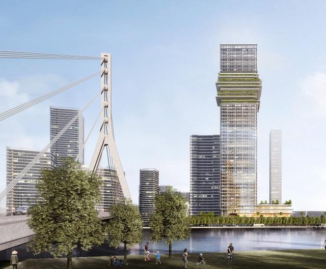 Hiện trạng The Sun Tower - tòa nhà văn phòng mang tính biểu tượng trong khu phức hợp Grand Marina - 3