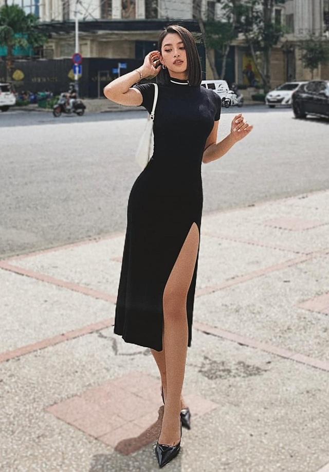 Khánh Vân khoe bụng phẳng chân dài với váy xẻ cực gắt tại Mỹ - 6