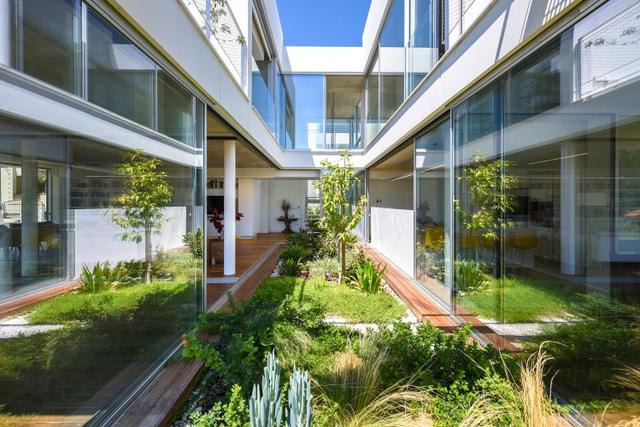 Ngôi nhà giữa thành phố có cả chục khu vườn lớn, nhỏ từ ngoài vào trong - 2