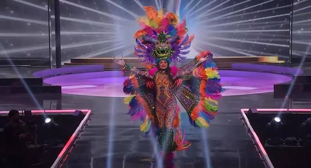Khánh Vân hoàn tất đêm thi trang phục dân tộc ở Hoa hậu Hoàn vũ - 6