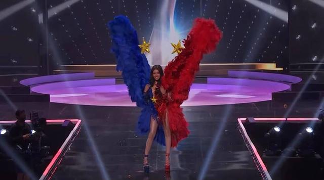 Khánh Vân hoàn tất đêm thi trang phục dân tộc ở Hoa hậu Hoàn vũ - 10