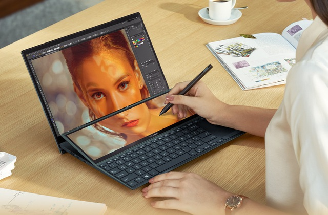 Laptop 2 màn hình Asus ZenBook Duo 14 lên kệ - 2