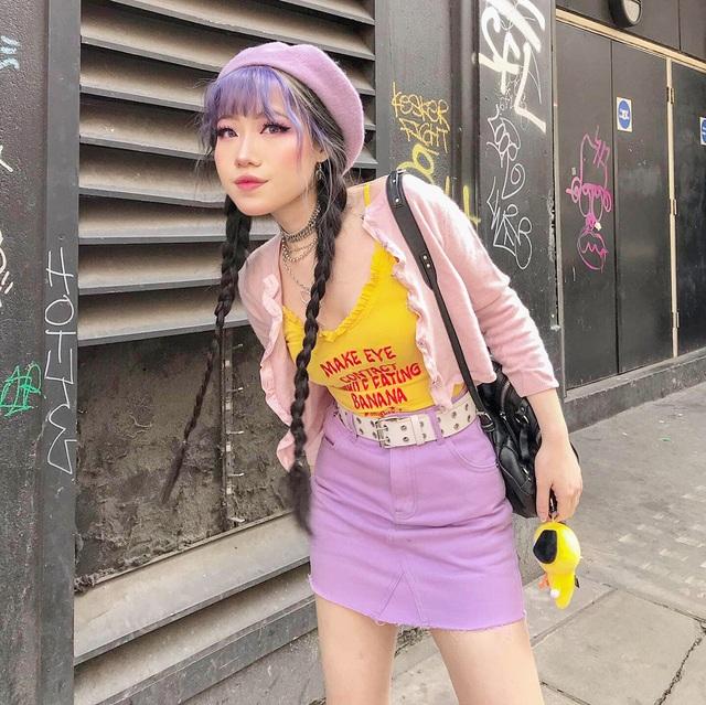 Nữ du học sinh Việt tại Anh quốc gây sốt với gu thời trang cá tính - 1