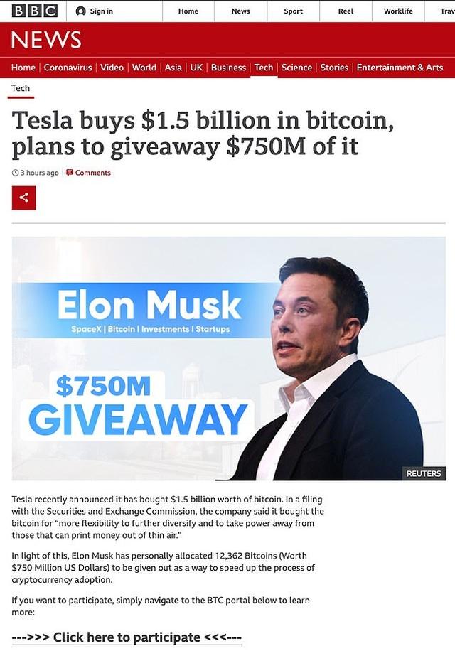 Mất sạch tiền tiết kiệm vì tin vào trò lừa đảo Elon Musk tặng Bitcoin - 2