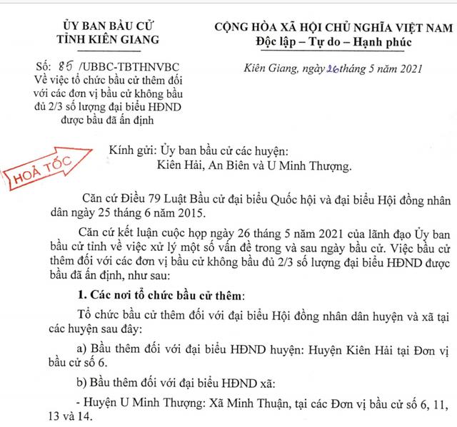 Nhiều tổ bầu cử ở Kiên Giang phải tổ chức bầu cử thêm - 1