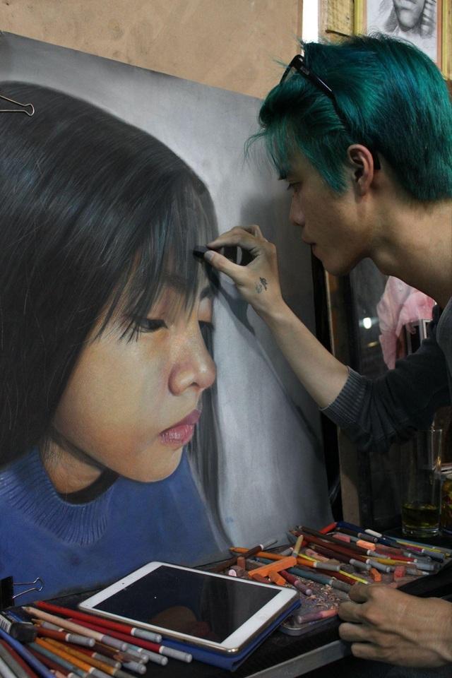 9X Sài Gòn bỗng nổi như cồn nhờ tài vẽ tranh sống động như thật - 4