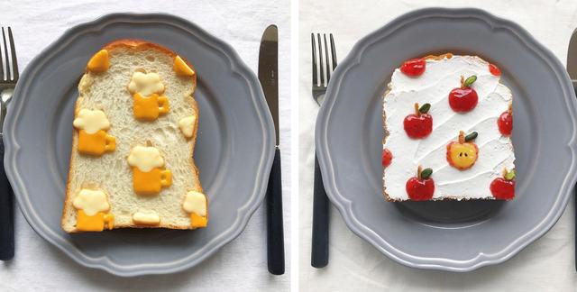Cô gái Nhật biến lát bánh mì ăn sáng quen thuộc thành tác phẩm nghệ thuật - 1