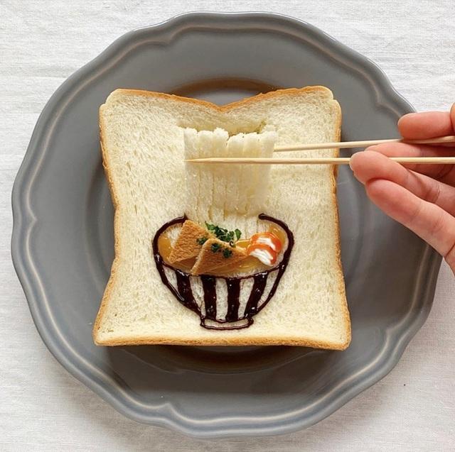 Cô gái Nhật biến lát bánh mì ăn sáng quen thuộc thành tác phẩm nghệ thuật - 2