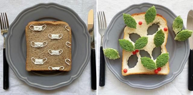 Cô gái Nhật biến lát bánh mì ăn sáng quen thuộc thành tác phẩm nghệ thuật - 7