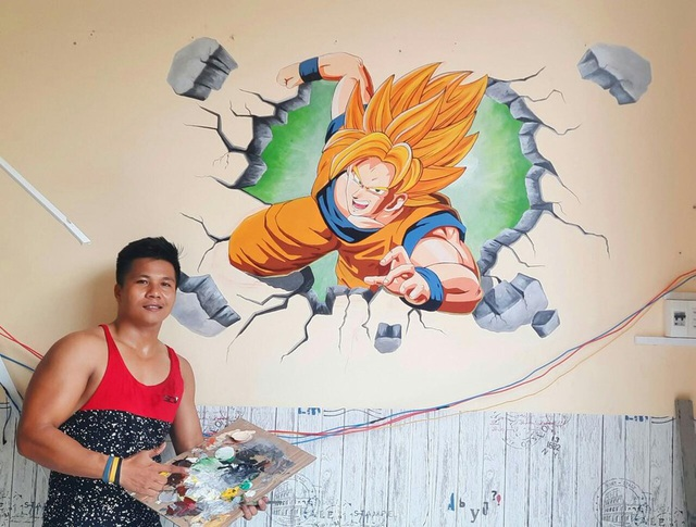 Theo đuổi đam mê vẽ tranh tường - 1