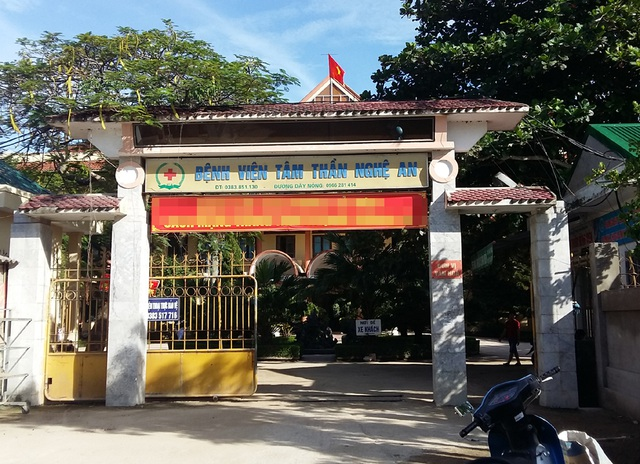 Bệnh viện Tâm thần Nghệ An.